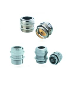 Cable glands nicket plated brass metric
